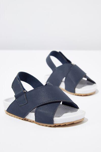 Mini Sling Back Sandal, NAVY