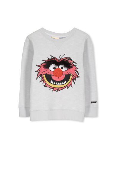 License Sweater, WINTER GREY SLUB/ANIMAL
