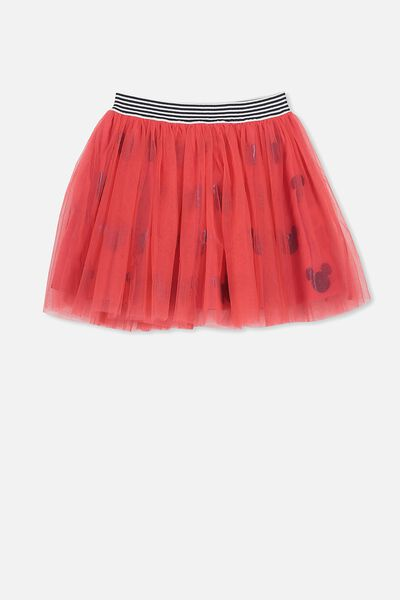 Trixiebelle Tulle Skirt, BONFIRE RED/MICKEY