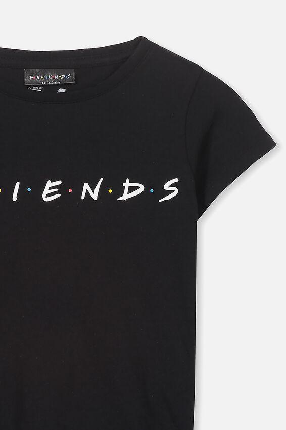 Friends Black Short Sleeve Tee, LCN WB BLACK/FRIENDS