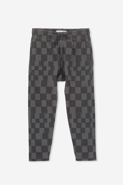 Miles Slouch Pant, PHANTOM/UNEVEN CHECK