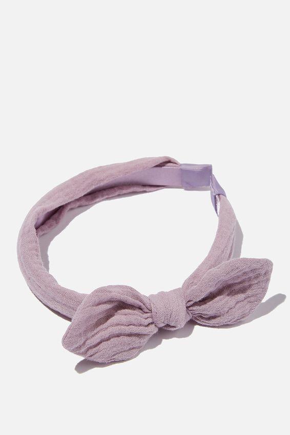 Headband - Fashion, VINTAGE LILAC CHEESECLOTH