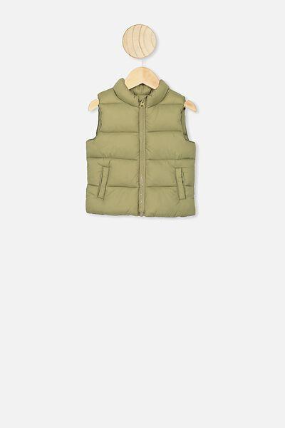 Morgan Puffer Vest, GUM LEAF