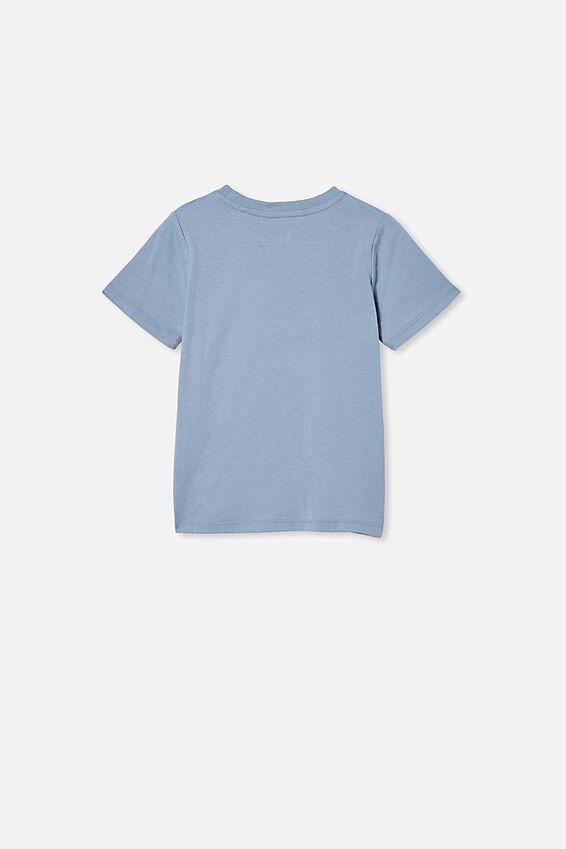 Penelope Short Sleeve Tee, DUSTY BLUE/COCKATOO