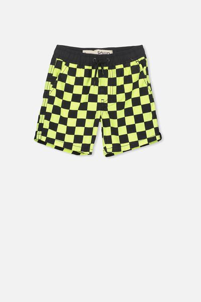 Murphy Swim Short, CITRUS CRUSH/PHANTOM CHECK