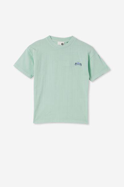 Scout Drop Shoulder Short Sleeve Tee, MINT BREEZE / CRAB