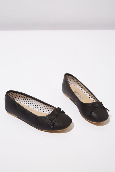 Ballet Flats, BLACK SHIMMER