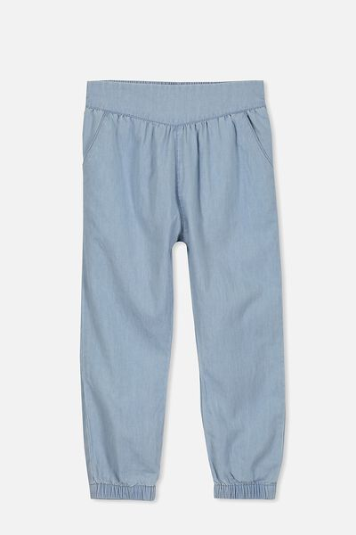 Joceyln Pant, BLEACH WASH CHAMBRAY