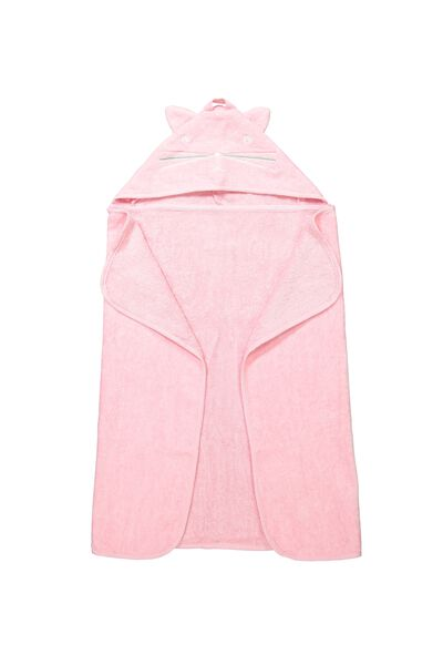 Baby Snuggle Towel, PINK CAT