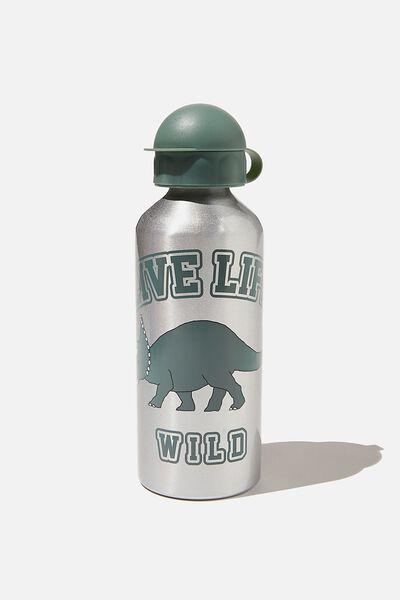 Aluminium Drink Bottle, LIVE LIFE WILD