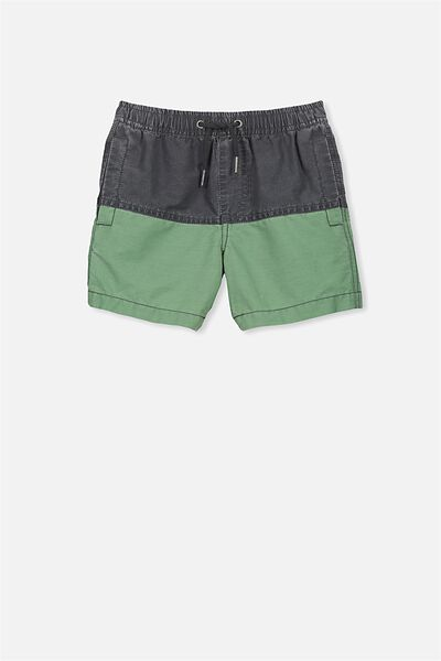 Murphy Swim Short, PHANTOM/GABBY GREEN SPLICE