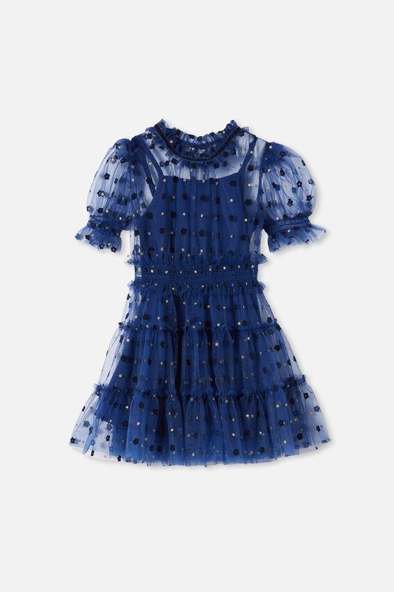 alice McCALL Short Sleeve Dress, INDIGO NIGHT
