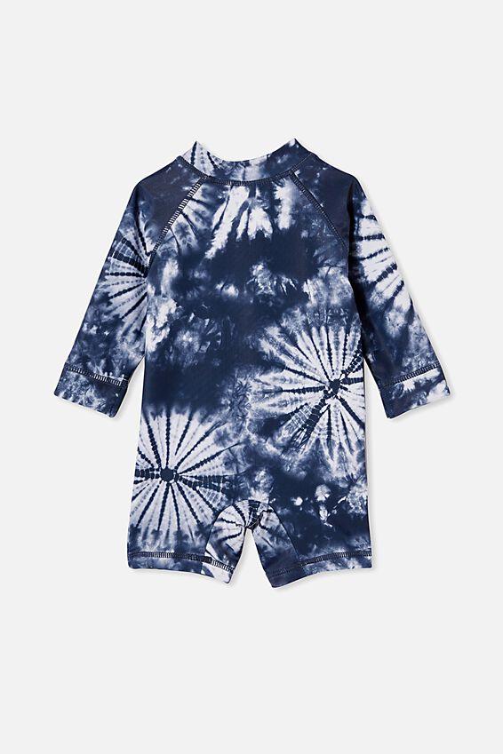 Cameron Long Sleeve Swimsuit, NAVY BLAZER TIE DYE