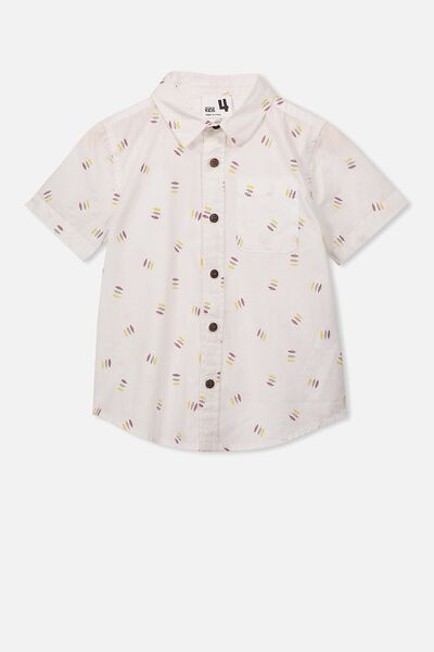 Resort Short Sleeve Shirt, VANILLA DITZY