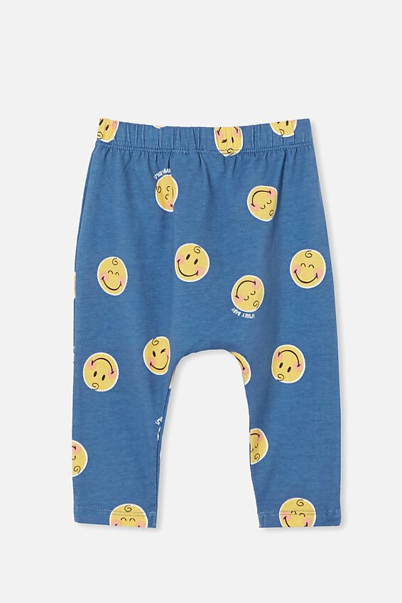 Smiley The Legging, LCN SMI PETTY BLUE/SMILEY BABY