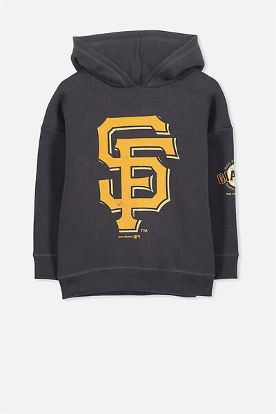 License Dropped Shoulder Hoodie, GRAPHITE/SAN FRANCISCO GIANTS