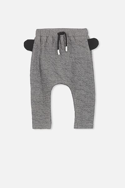 Frankie Pant, QUILT GREY MARLE/3D EARS