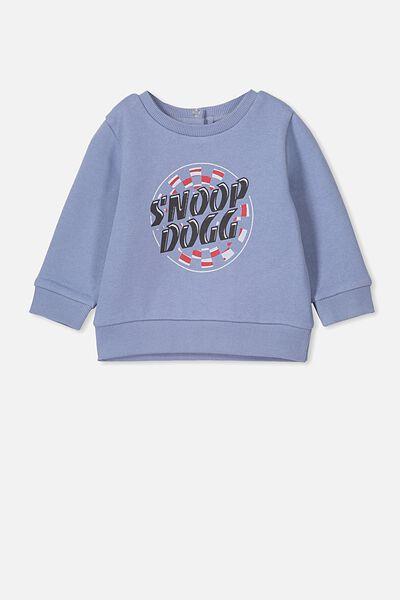 Billie Sweater, LCN MT DUSTY BLUE/SNOOP DOG