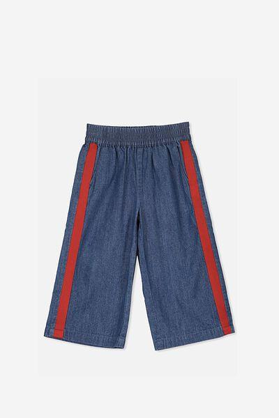 Isla Wide Leg Crop Pant, MIDWASH