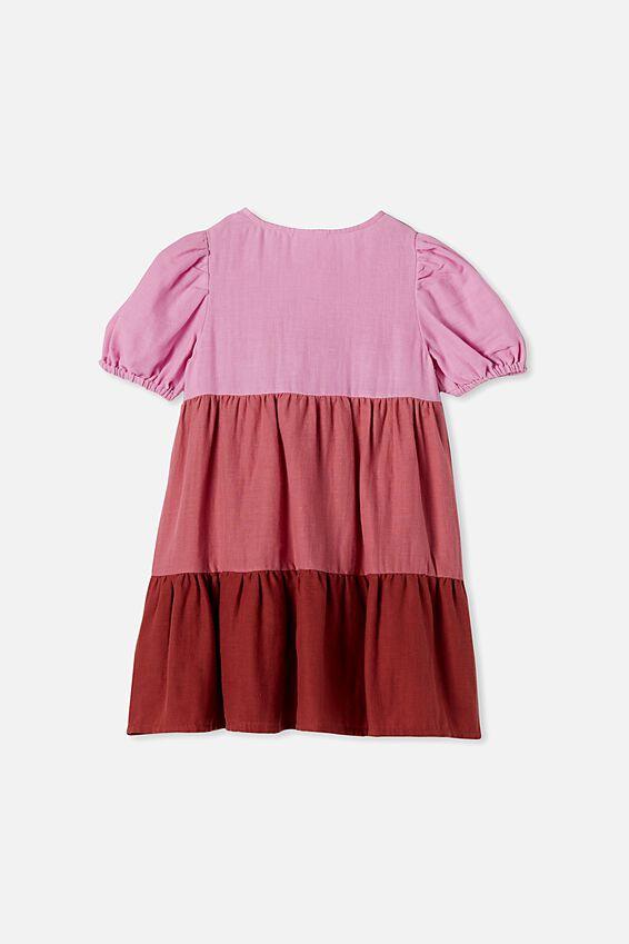 Girls Meredith Dress, PURPLE PARADISE GRADIENT