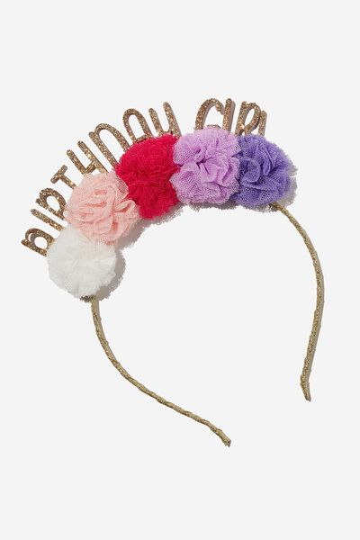 Headband - Birthday, PASTEL BIRTHDAY GIRL