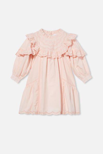 Deonne Long Sleeve Dress, CRYSTAL PINK