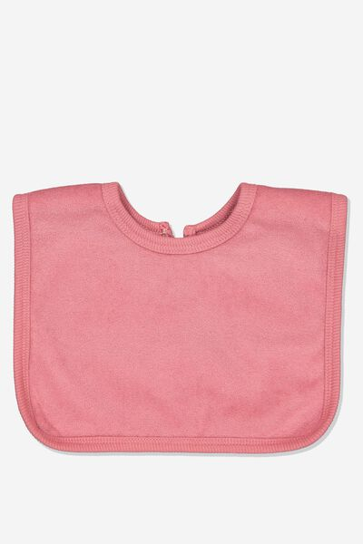 The Everyday Bib, RUSTY BLUSH/TOWELLING