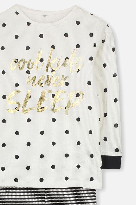 Shae Girls Long Sleeve Waffle Pyjama Set, COOL KIDS