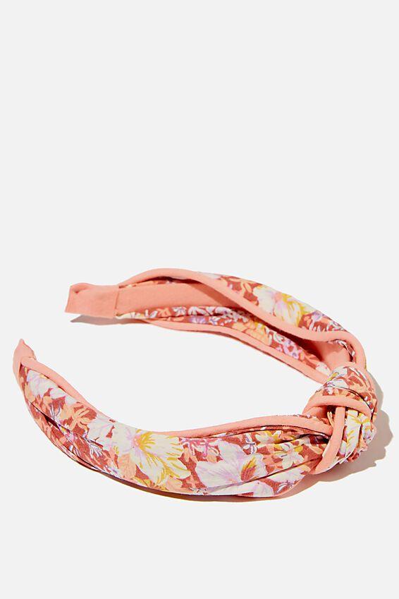 Knotted Headband, GRANDMA FLORAL