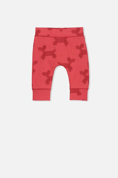 Mini Legging, BONFIRE RED/PARTY DOG