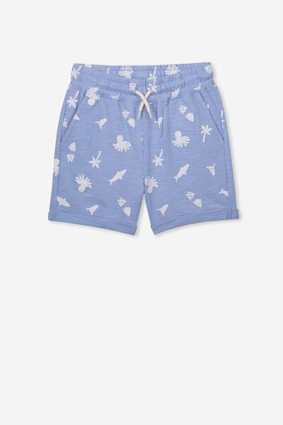 Henry Slouch Short, POWDER PUFF BLUE/SEALIFE