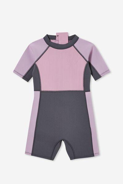 Noosa Short Sleeve Wetsuit, PALE VIOLET