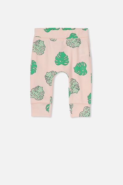 Mini Legging, SHELL PEACH/PALM LEAF