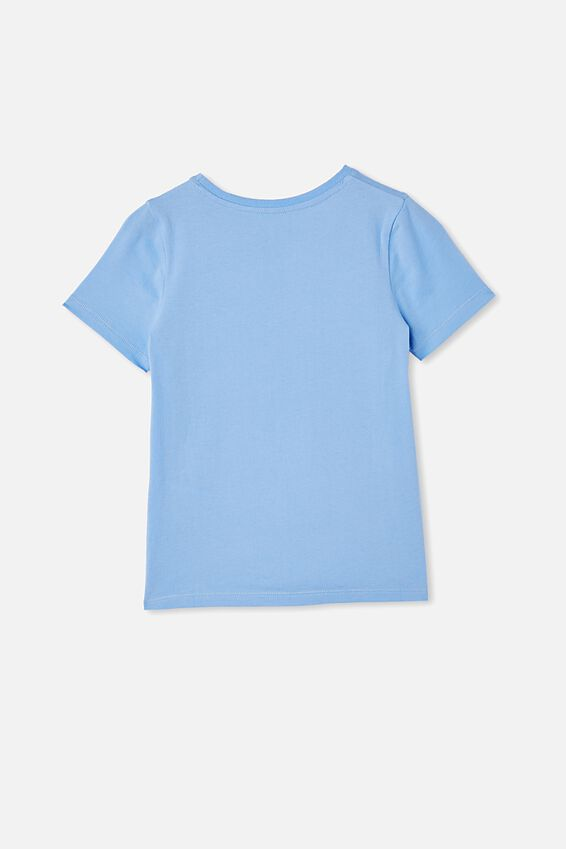 Stevie Short Sleeve Embellished Tee, DUSK BLUE/ LUCKY OX