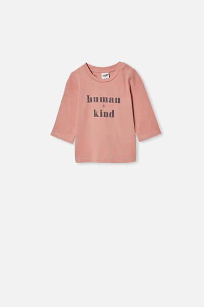 Jamie Long Sleeve Tee, CLAY PIGEON/HUMAN + KIND