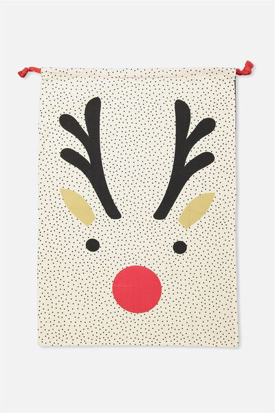Kids Santa Sack, SIMPLE REINDEER