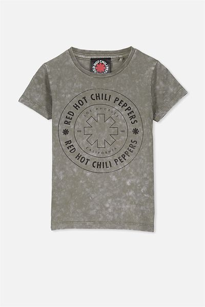Short Sleeve Licence Tee, FADED KHAKI/RED HOT CHILLI PEPPERS