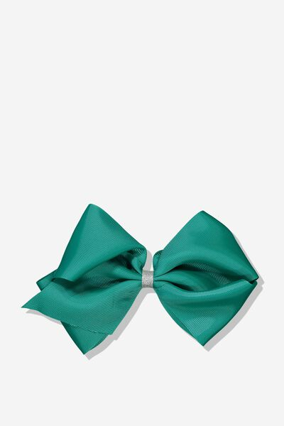 Statement Bows, SCOUT GREEN/SILVER GLITTER