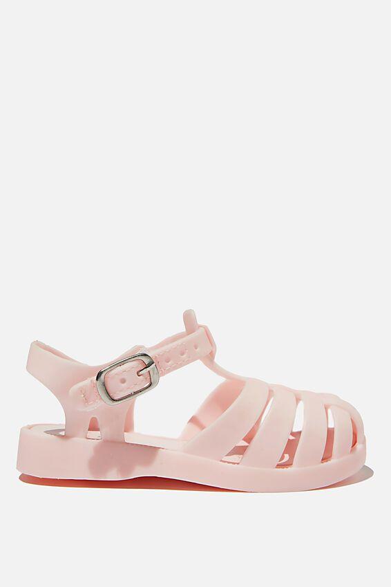 Mini Amalfi Jelly Sandal, CRYSTAL PINK