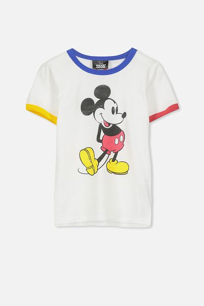 Short Sleeve License Tee, VANILLA/CLASSIC MICKEY