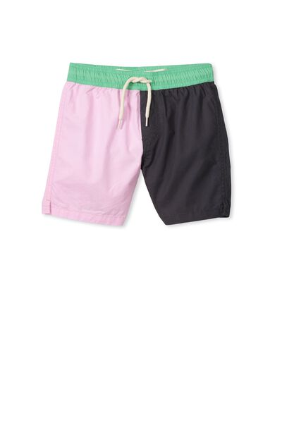 Murphy Swim Short, PHANTOM/PINK PANEL
