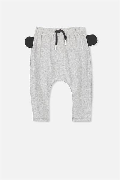 Frankie Pant, LIGHT GREY MARLE/3D EARS