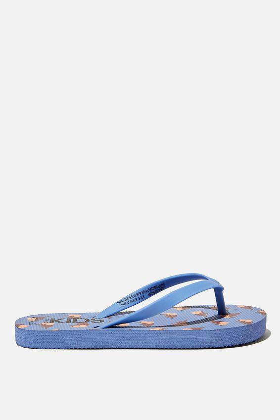 Printed Flip Flop, DINO DUSK BLUE