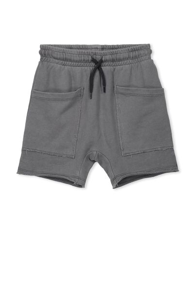 Andy Active Slouch Short, WASHED GREY