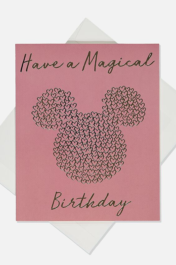 Licensed Birthday Gift Card, LCN DIS MICKEY HAVE A MAGICAL BIRTHDAY