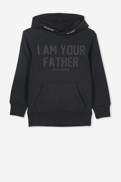 License Hoodie, LCN LU VINTAGE BLACK/ AM YOUR FATHER