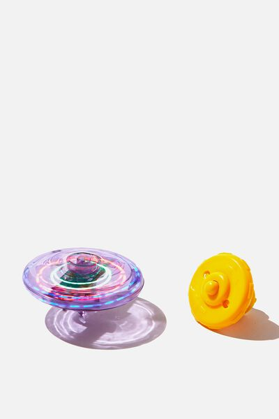 Light Up Spinning Top, PURPLE/YELLOW