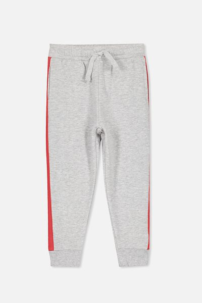 Lewis Trackpant, LIGHT GREY MARLE/DOUBLE STRIPE