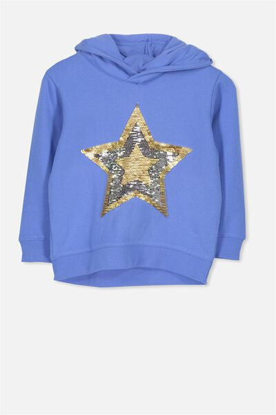 Scarlett Hoodie, ULTRAMARINE/ PINK STAR/SET IN SLEEVE