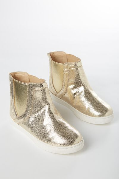 Darcy Gusset Boot, GOLD METALLIC